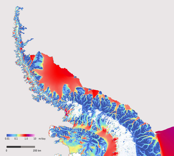Antarctic Peninsula ice flow