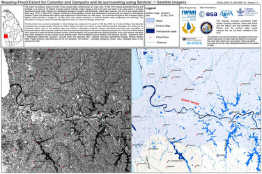 Flood map, western Sri Lanka