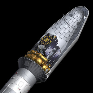Galileo satellites atop Soyuz