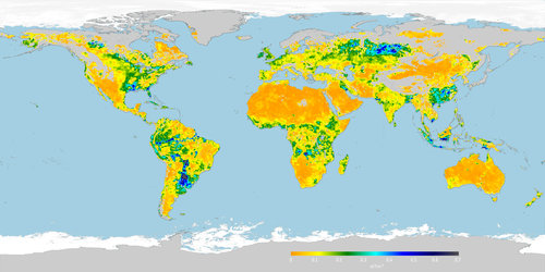 Root-zone soil moisture May 2016