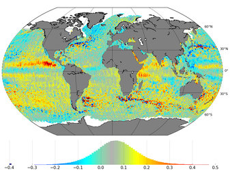 Sea-level variations from Sentinel-3A