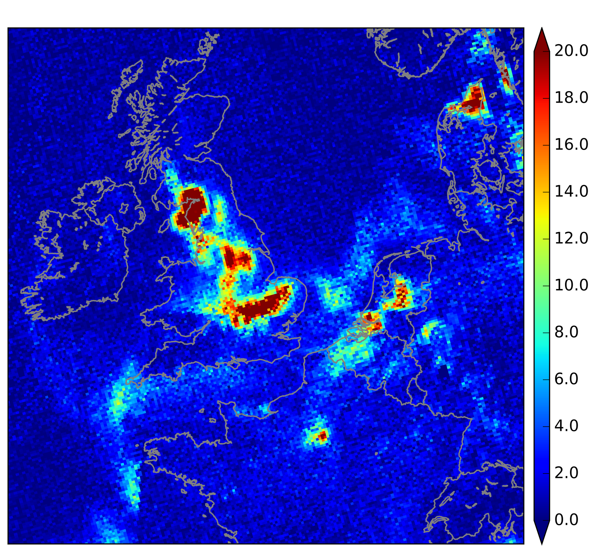 Simulating Tropomi data for improved air-quality forecasts