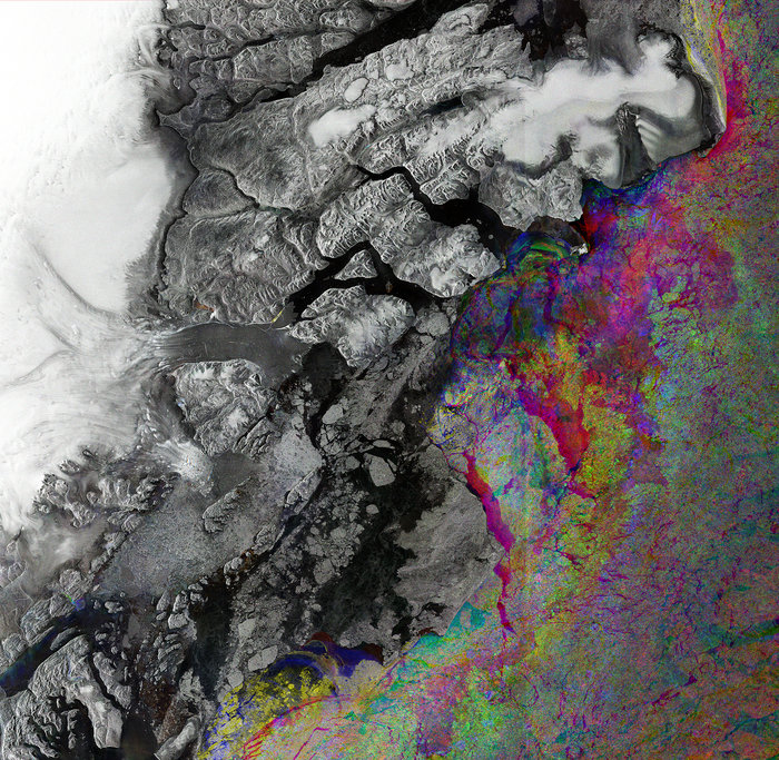 Zachariae glacier node full image 2 Multi spectral Images
