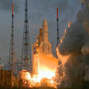 Ariane 5 med 10,7 tons satellitter