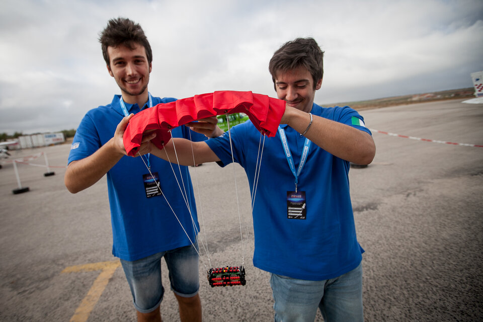 CanSat with its parachute