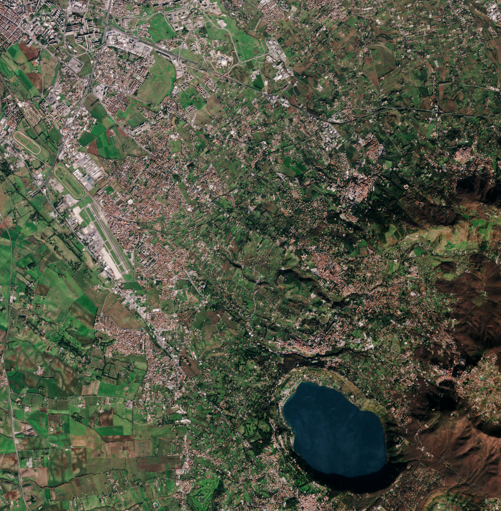 The Sentinel-2A satellite over Italy's Rome Castelli area