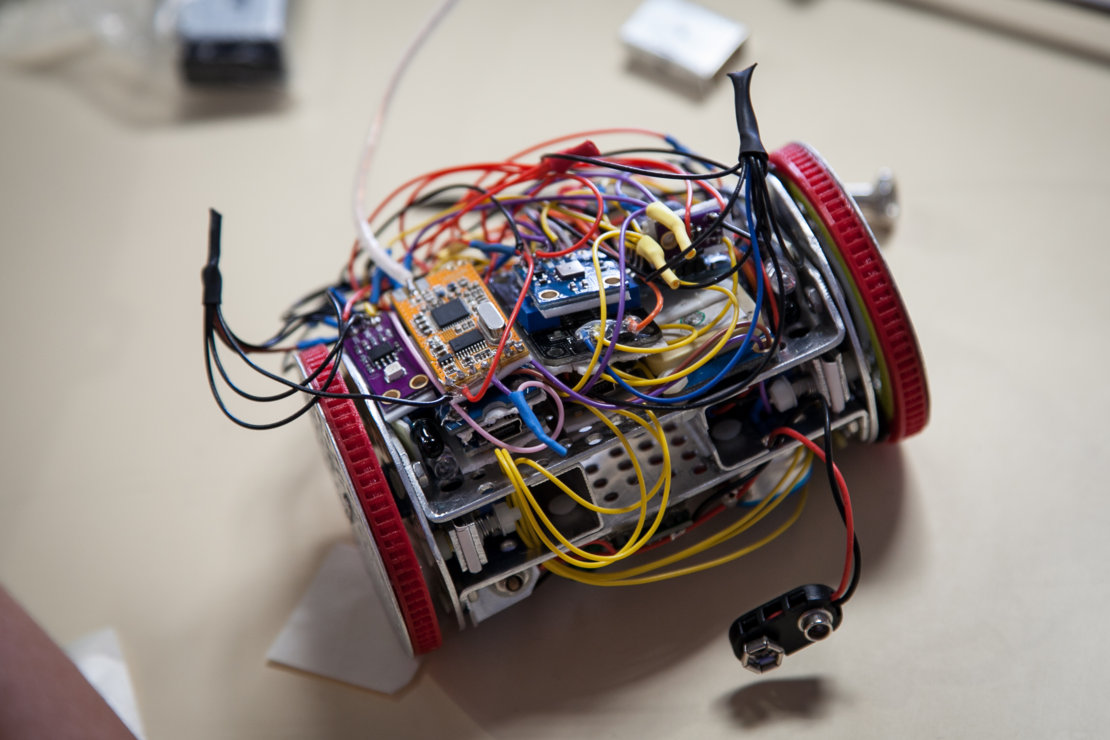 Electronics inside a CanSat