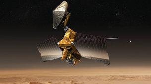 In October 2016, NASA's MRO orbiter will support the arrival of ESA's ExoMars mission, providing data relay overflights above the Schiaparelli lander