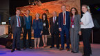 [23/36] Members of the French National Assembly visit with representatives of ESA the 'Space for Earth' pavilion