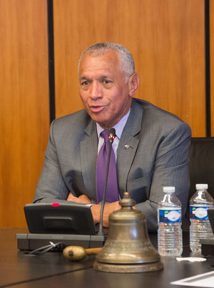 NASA Administrator Charles F. Bolden Jr addressing the ESA Council