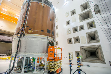 Orion service module test article acoustic test