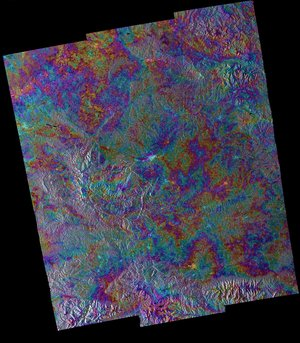 Sentinel-1A and -1B radar scans combined