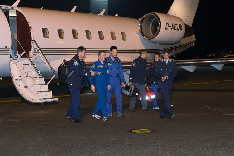 Tim Peake at Cologne's airport