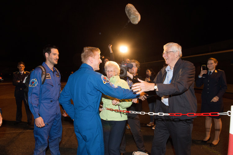 Tim Peake being welcomed back