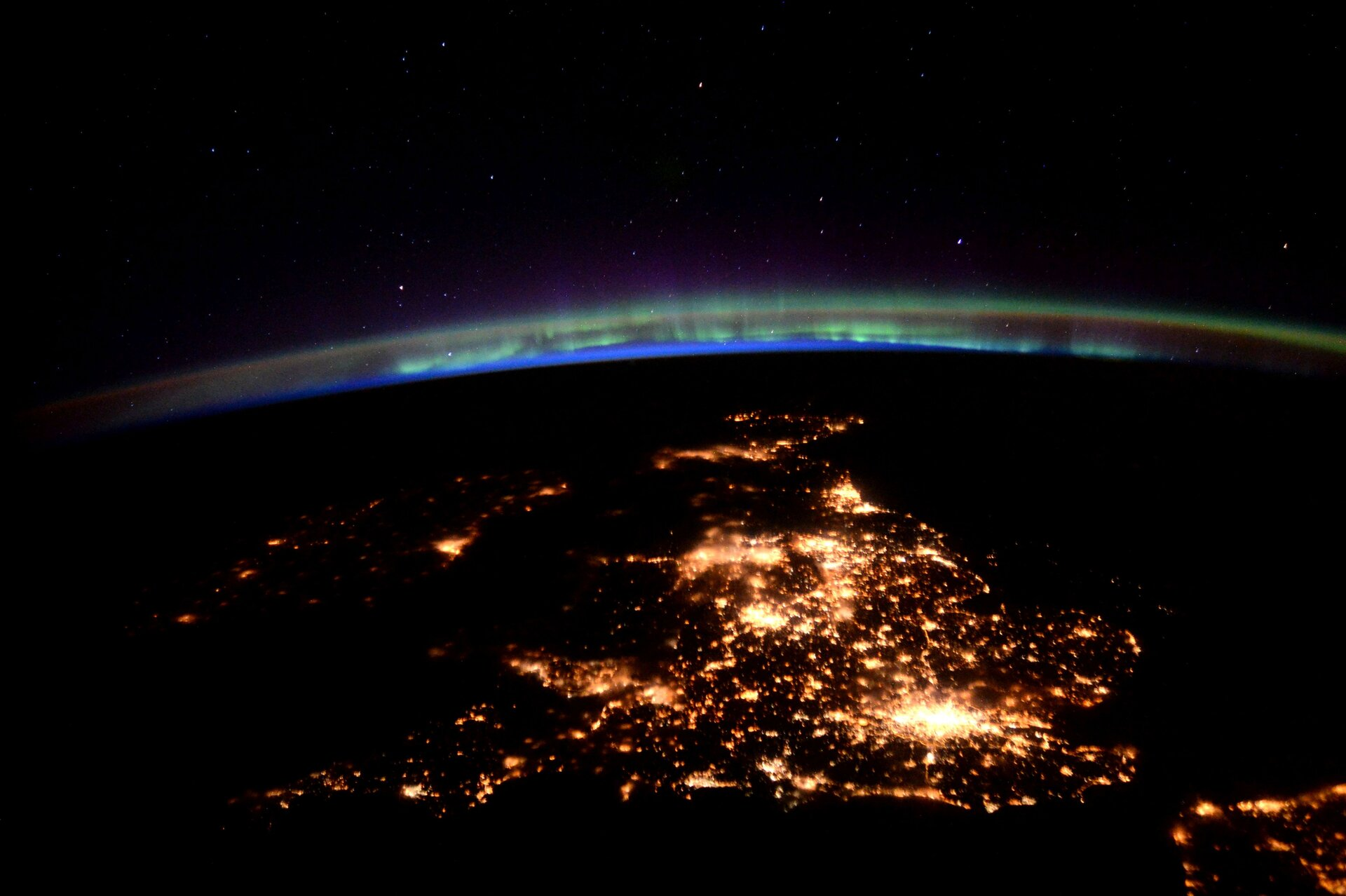 United Kingdom and northern lights