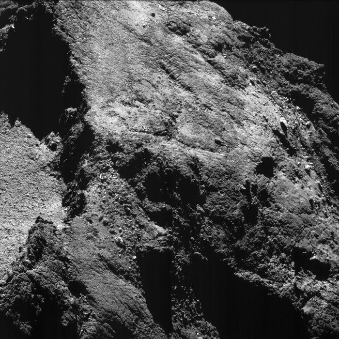 Komet 67P's overflade