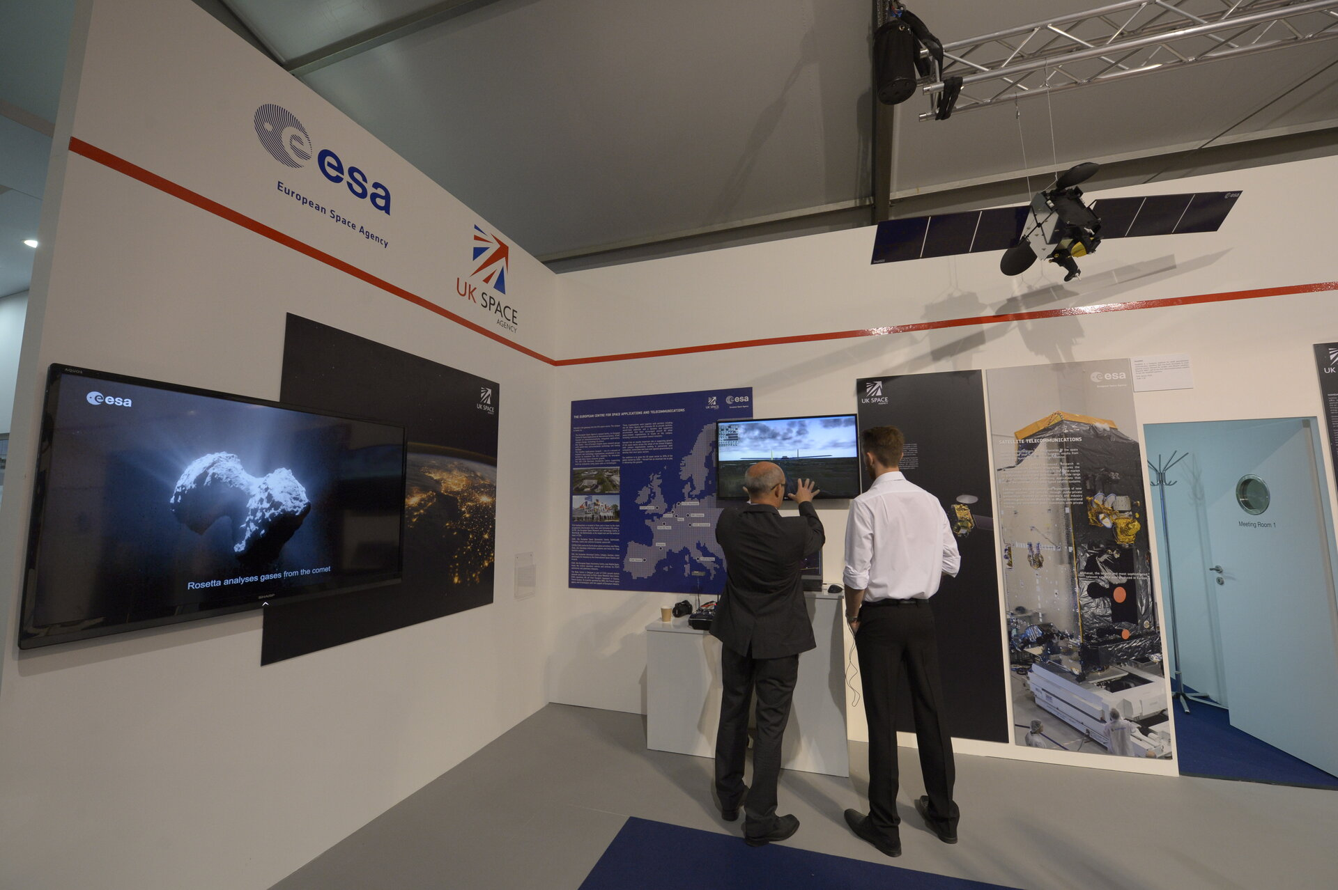 ESA pavilion Farnborough Airshow 2016