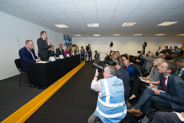 ESA/UK Space Agency Press conference with ESA astronaut Tim Peake