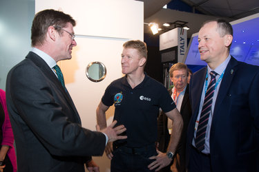Greg Clark, Tim Peake and David Parker,