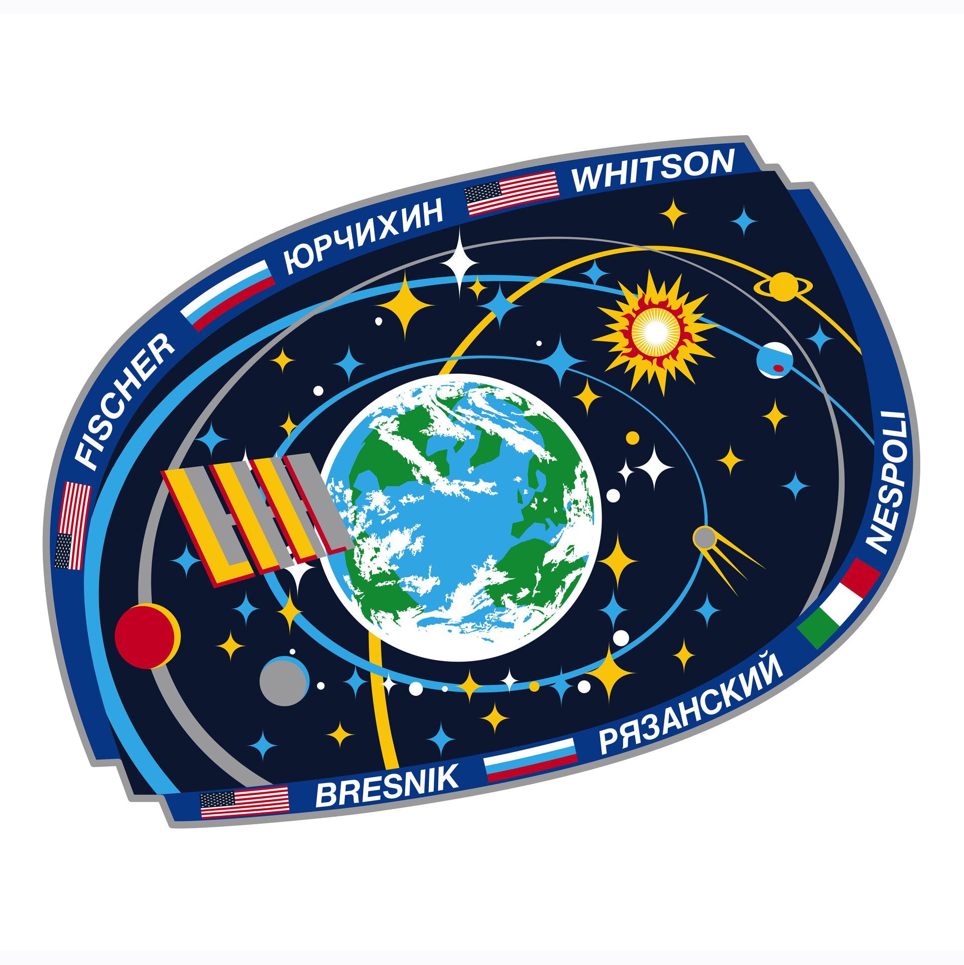 ISS Expedition 52 patch, 2017