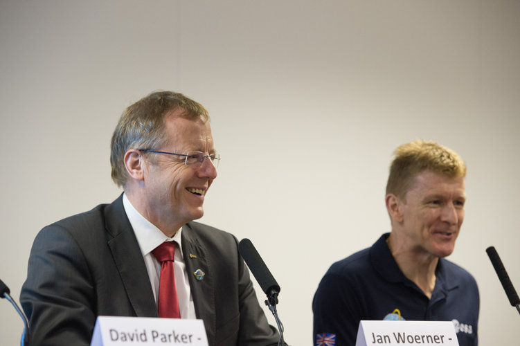 Jan Wörner at the Tim Peake Press Conference