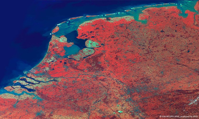 Netherlands imaged by Proba-V