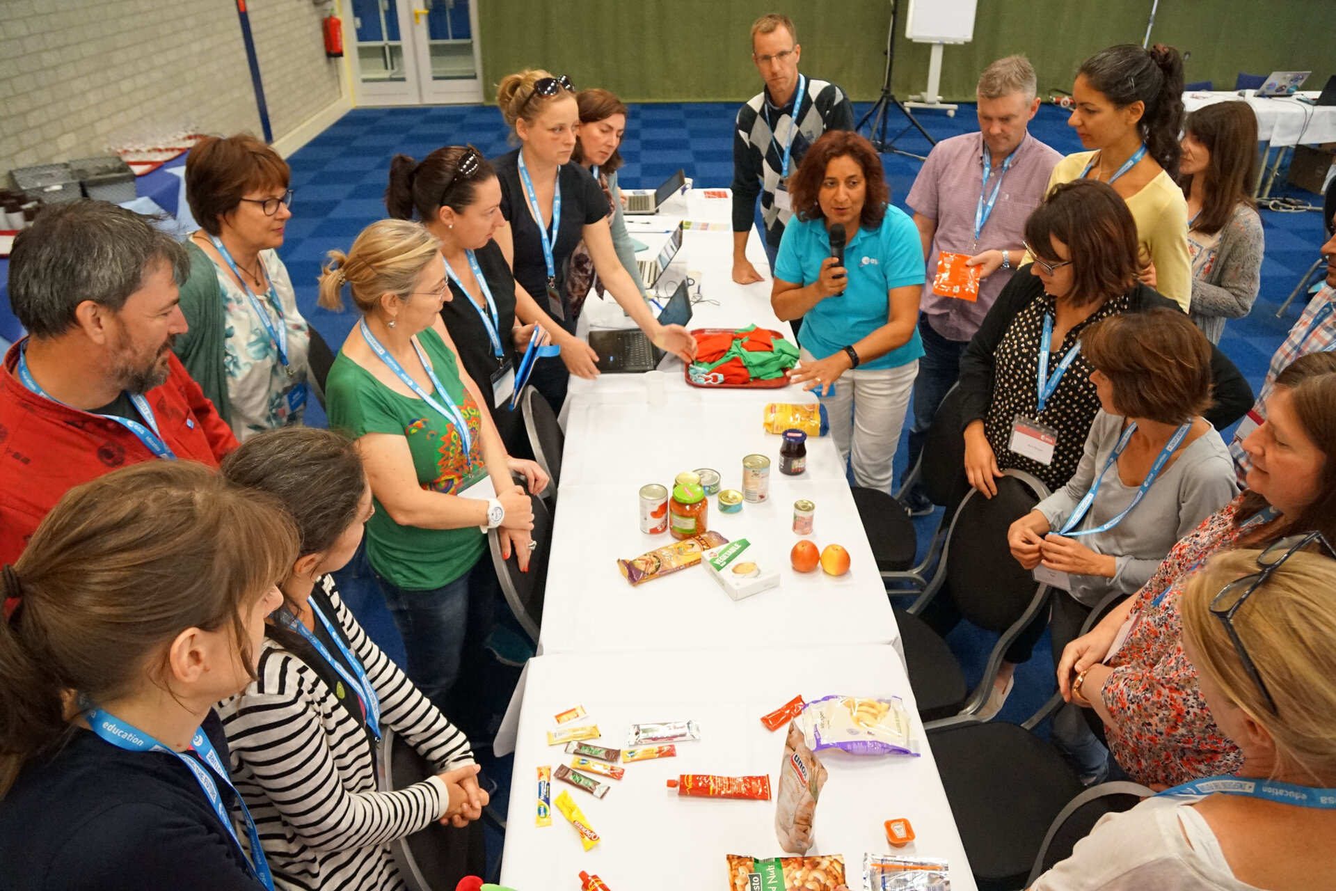 Teachers learning about food in space