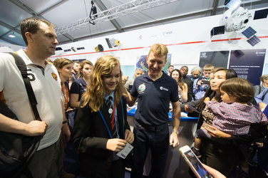 Tim Peake meet and greet on Futures Day, Farnborough International Airshow 2016