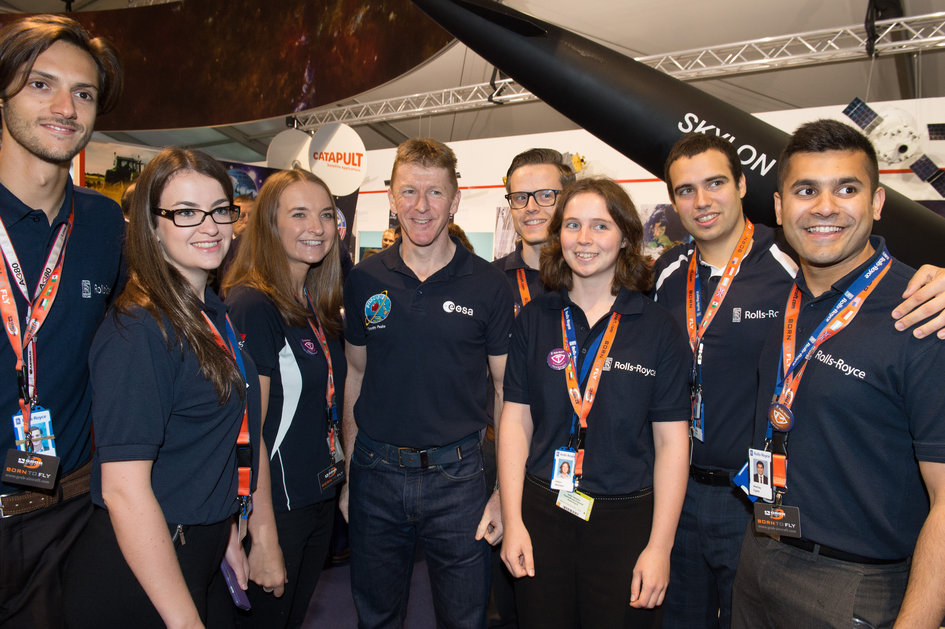 Tim Peake meet and greet on Futures Day, Farnborough International Airshow 2016.
