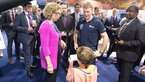 [59/67] Tim Peake meet and greet on Futures Day, Farnborough International Airshow 2016