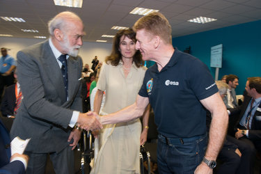 Tim Peake meets Prince Michael of Kent
