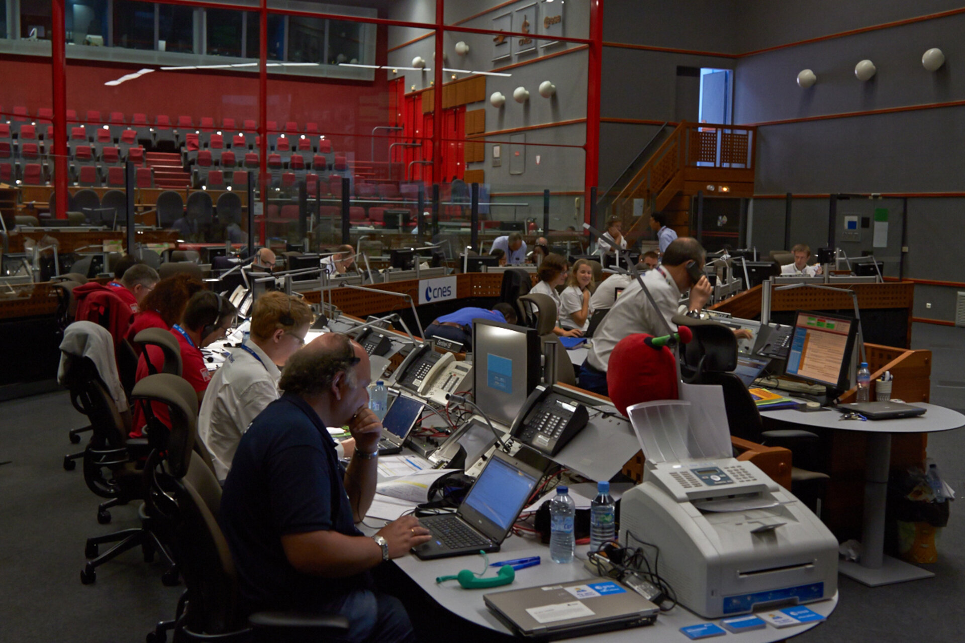 Mission control room in Kourou