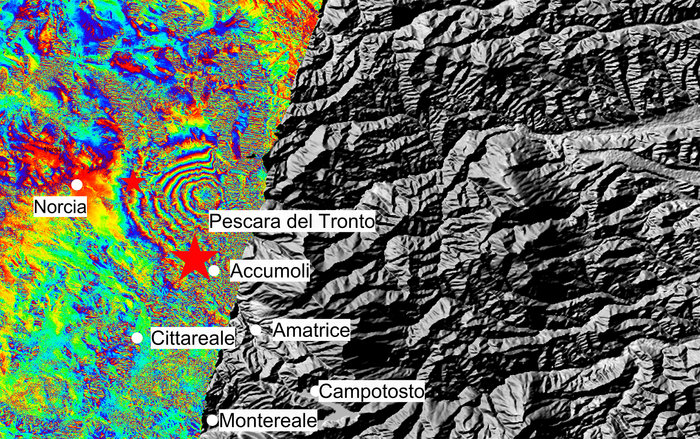 Space in Images - 2016 - 08 - Italy earthquake displacement
