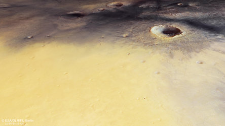 Perspective view in Meridiani Planum
