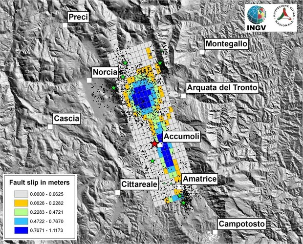 Source fault of Italy's earthquake