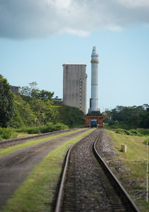 ARTA-6 test firing of an Ariane 5 solid-propellant booster