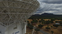 In September 2016, the team at ESA's deep-space tracking station at Cebreros, near Madrid, Spain, ran a series of test flights to image the antenna using a Dji Phantom 3 drone controlled with an iPad.