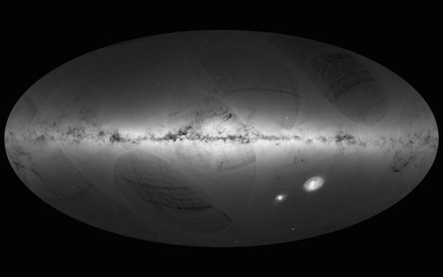 Gaia's kortlægning af 1 milliard stjerner i Mælkevejen