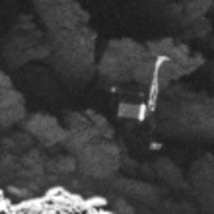 Κοντινό στιγμιότυπο του Philae