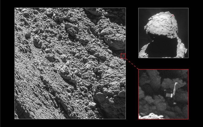 Lokalizacja lądownika Philae w wysokiej rozdzielczości fot: ESA