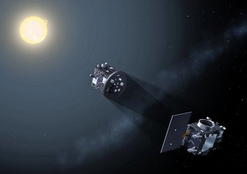 Proba-3 satellites form artificial eclipse