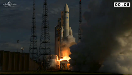 Ariane 5 liftoff on flight VA231