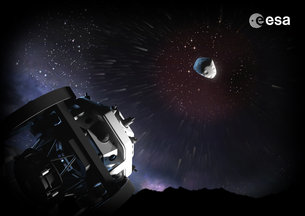 As part of the global effort to hunt out risky celestial objects such as asteroids and comets, ESA is developing an automated 'Flyeye' telescope for nightly 'near-Earth object' sky surveys