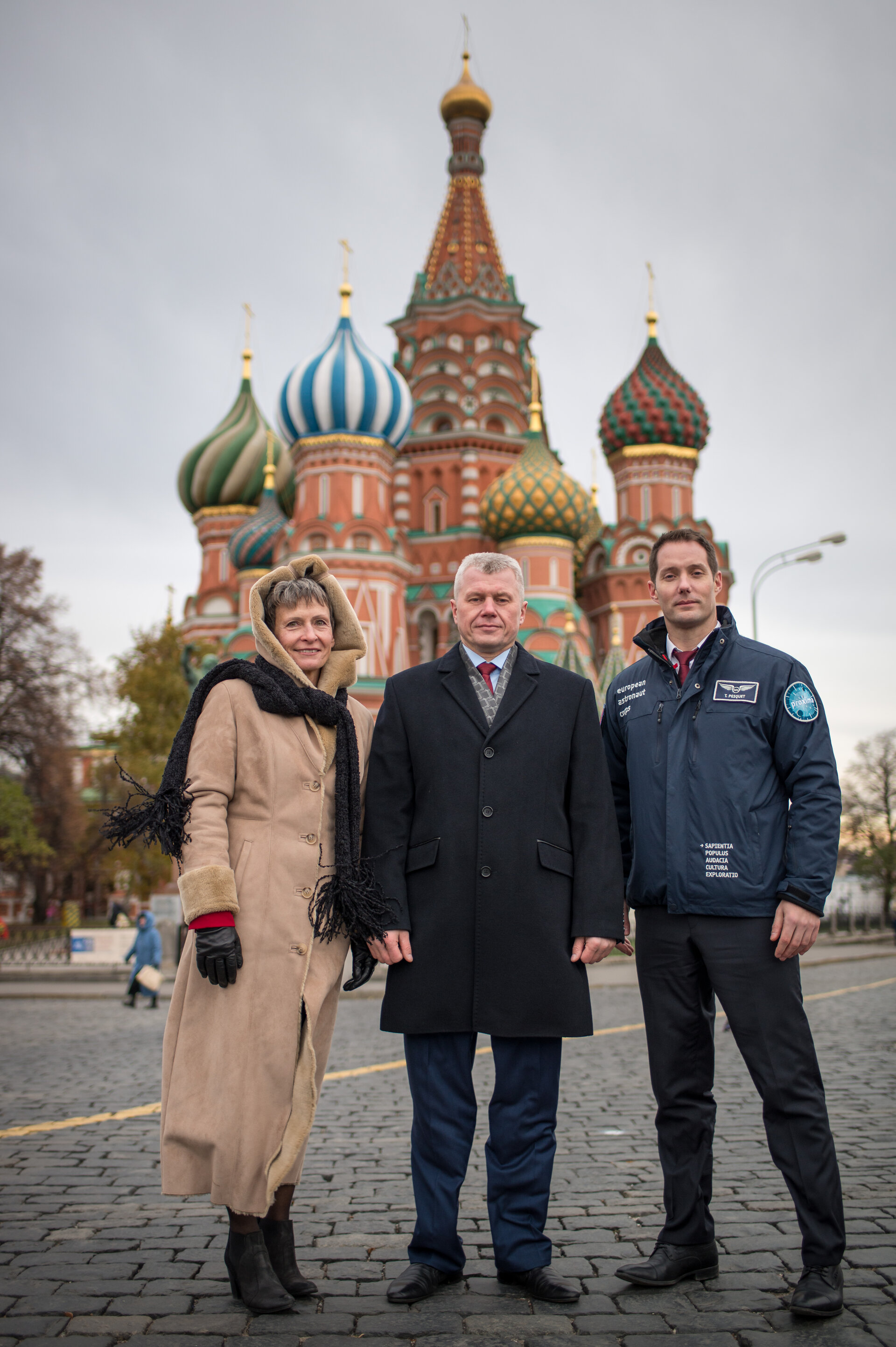 Peggy, Oleg and Thomas at Red Square