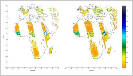 Soil moisture processed two ways
