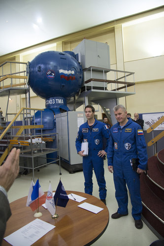 Thomas and Oleg during training at GCTC