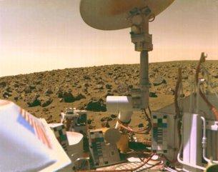 Imagen de Viking 2 desde la superficie de Marte. Créditos: NASA/JPL