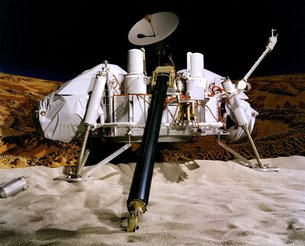 Maqueta de la sonda de aterrizaje Viking. Créditos: NASA/JPL-Caltech/University of Arizona