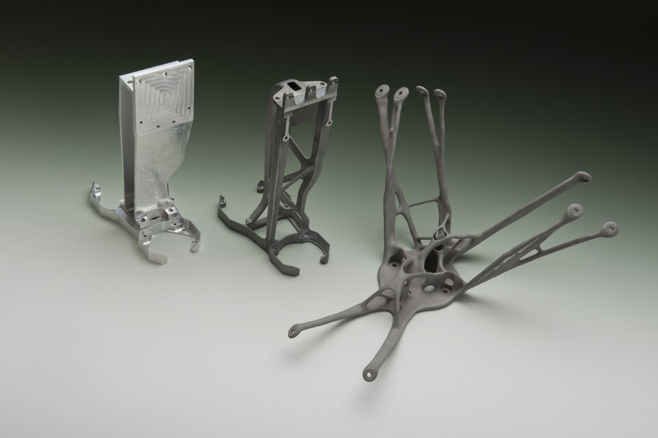 3D-printed brackets for space