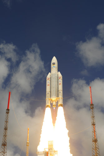 Ariane 5 liftoff on flight VA233